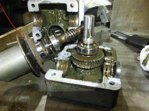 木工機のギア修理